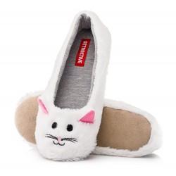 Baleriny domowe damskie koty, lekkie i wygodne.