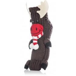 Skarpetki damskie na prezent mikołajkowy - brązowy renifer.