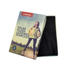 Ciepłe legginsy, getry polarowe z bezszwową częścią majtkową