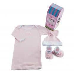 Zestaw niemowlęcy dla dziewczynki - 3 częściowy - zapakowany w domek -...