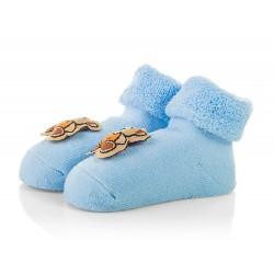 Skarpetki niemowlęce frotki niebieskie - TBS001 blue
