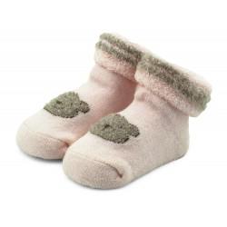 Skarpetki niemowlęce frotki różowe - TBS002 pink