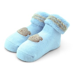 Skarpetki niemowlęce frotki niebieskie - TBS002 blue