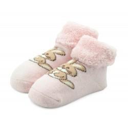 Skarpetki niemowlęce frotki różowe - TBS003 pink