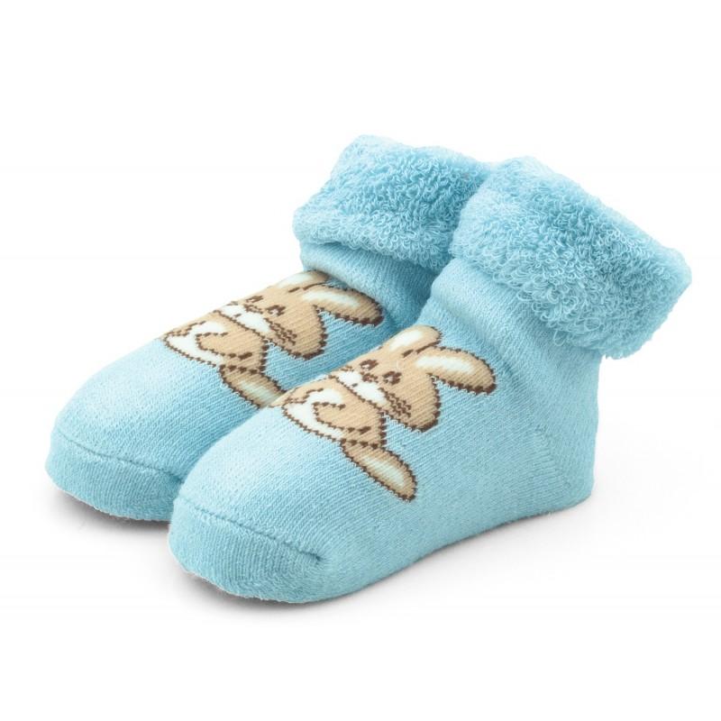 b4824c534c2eac Skarpetki niemowlęce frotki niebieskie - TBS003 blue Kolor Niebieski  Rozmiar skarpetek 19/20 - 6-12 miesięcy