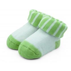 Skarpetki niemowlęce frotki zielone - TBS007 green