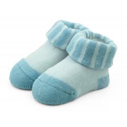 Skarpetki niemowlęce frotki niebieskie - TBS007 blue