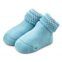 Skarpetki niemowlęce frotki niebieskie - TBS008 blue
