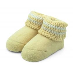 Skarpetki niemowlęce frotki żółte - TBS008 yellow