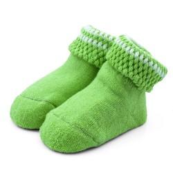Skarpetki niemowlęce frotki zielone - TBS008 green