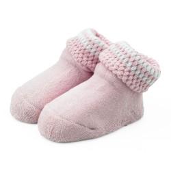 Skarpetki niemowlęce frotki różowe - TBS008 pink
