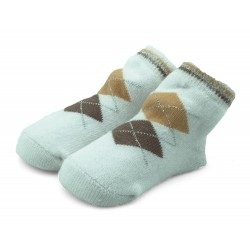 Skarpetki niemowlęce frotki brązowe - TBS028 brown