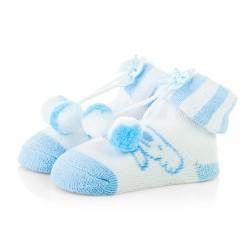 Skarpetki niemowlęce frotki niebieskie - TBS044 blue