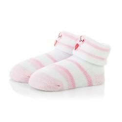 Skarpetki niemowlęce frotki dla dziewczynki - TBS041 pink