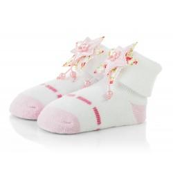 Skarpetki niemowlęce frotki dla dziewczynki - TBS042 pink
