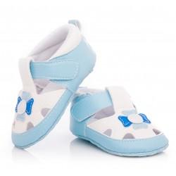 Przewiewne buciki niemowlęce niechodki - ekologiczna skóra.