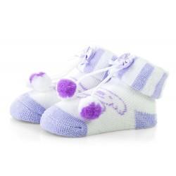 Skarpetki niemowlęce frotki fioletowe - TBS044 purple