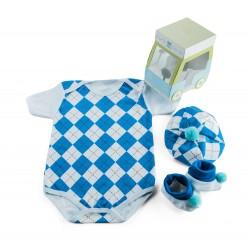 Zestaw niemowlęcy dla chłopca - 3 częściowy - idealny na prezent - wariant...